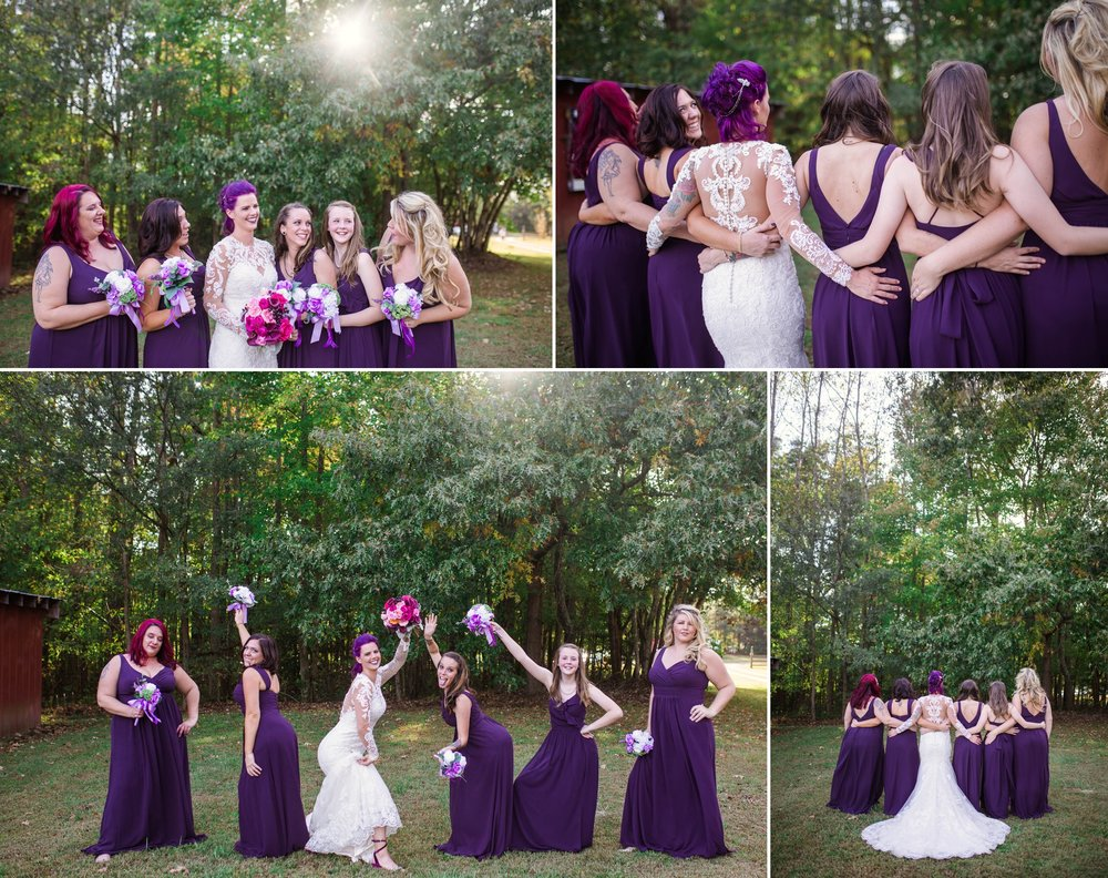 Bridesmaids Portraits - Brittany + Jonathan - Raleigh North Carolina Wedding Photographer