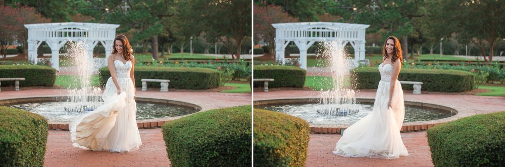 Morgan - Bridal Photography Session at the FTCC Rose Garden - Fayetteville North Carolina Wedding Photographer