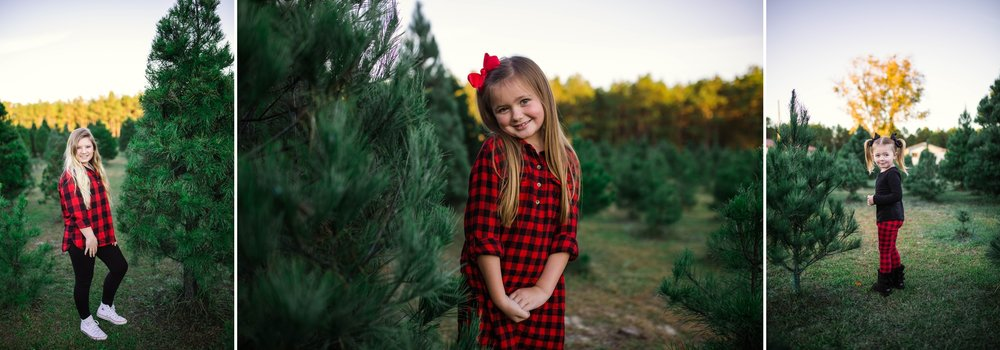 Family Photography at the Christmas Tree Farm in Fayetteville North Carolina