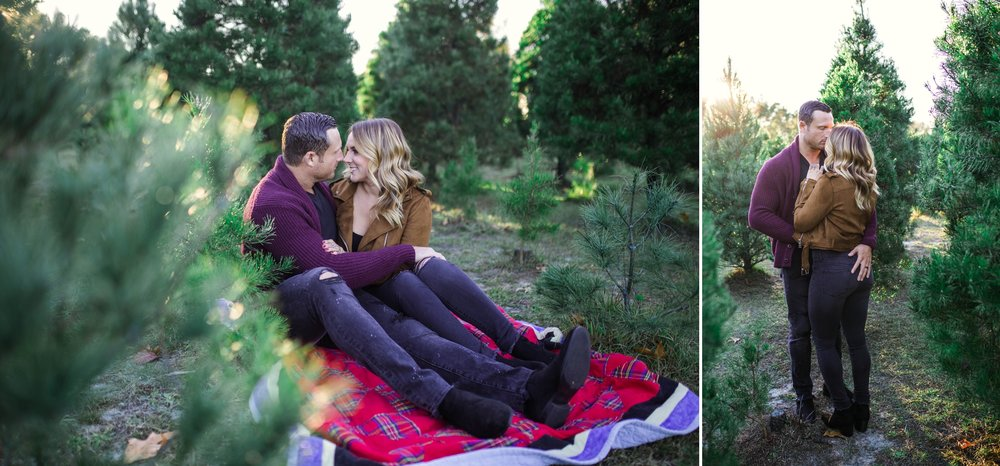 Couples Photography Session at the Christmas Tree Farm - Fayetteville North Carolina Engagement Photographer