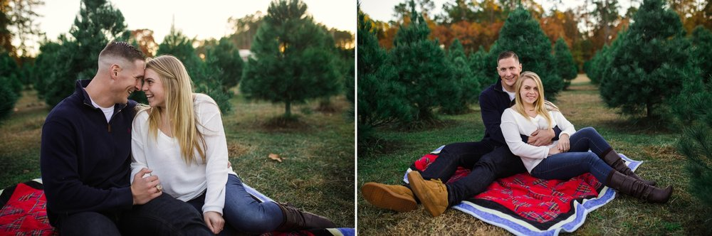 Fayetteville North Carolina Family Photographer at the Christmas Tree Farm - Johanna Dye Photography