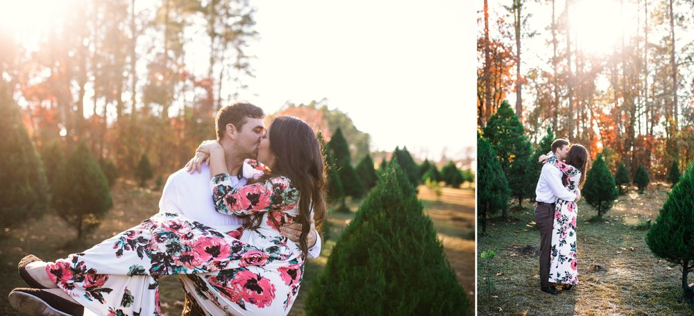 Couples Engagement Photographer in Fayetteville, North Carolina - Johanna Dye - at the B&D Christmas Tree Farm