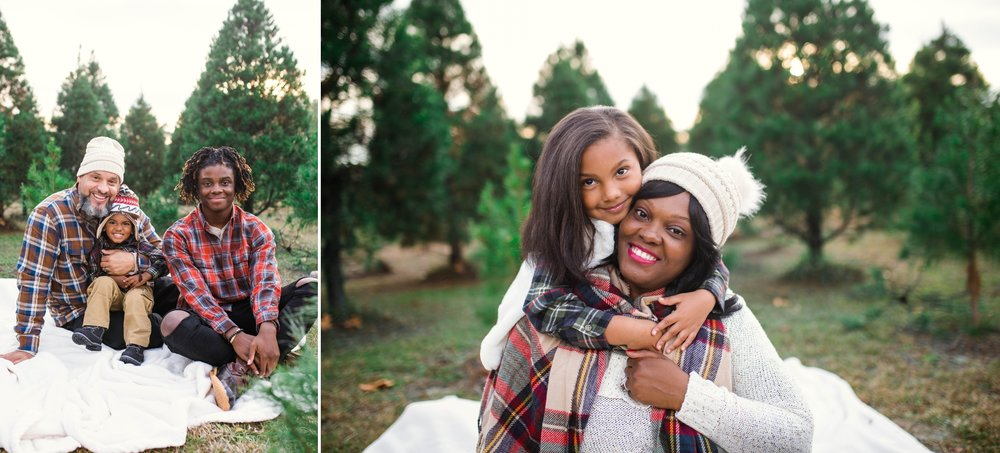 Family Photographer in Fayetteville North Carolina at the B&D CHristmas Tree Farm