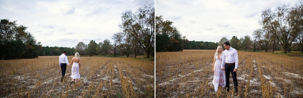 Couples photography in a Cornfield - Fayetteville North Carolina Engagement Photographer