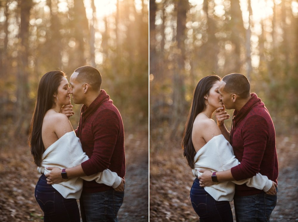 Engagement Photography Session in Clark Park in Fayetteville, North Carolina