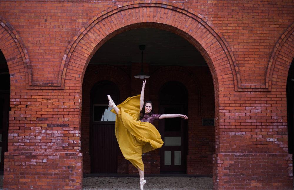 Urban Ballerina Dancer Photography - Fayetteville North Carolina Senior Photographer