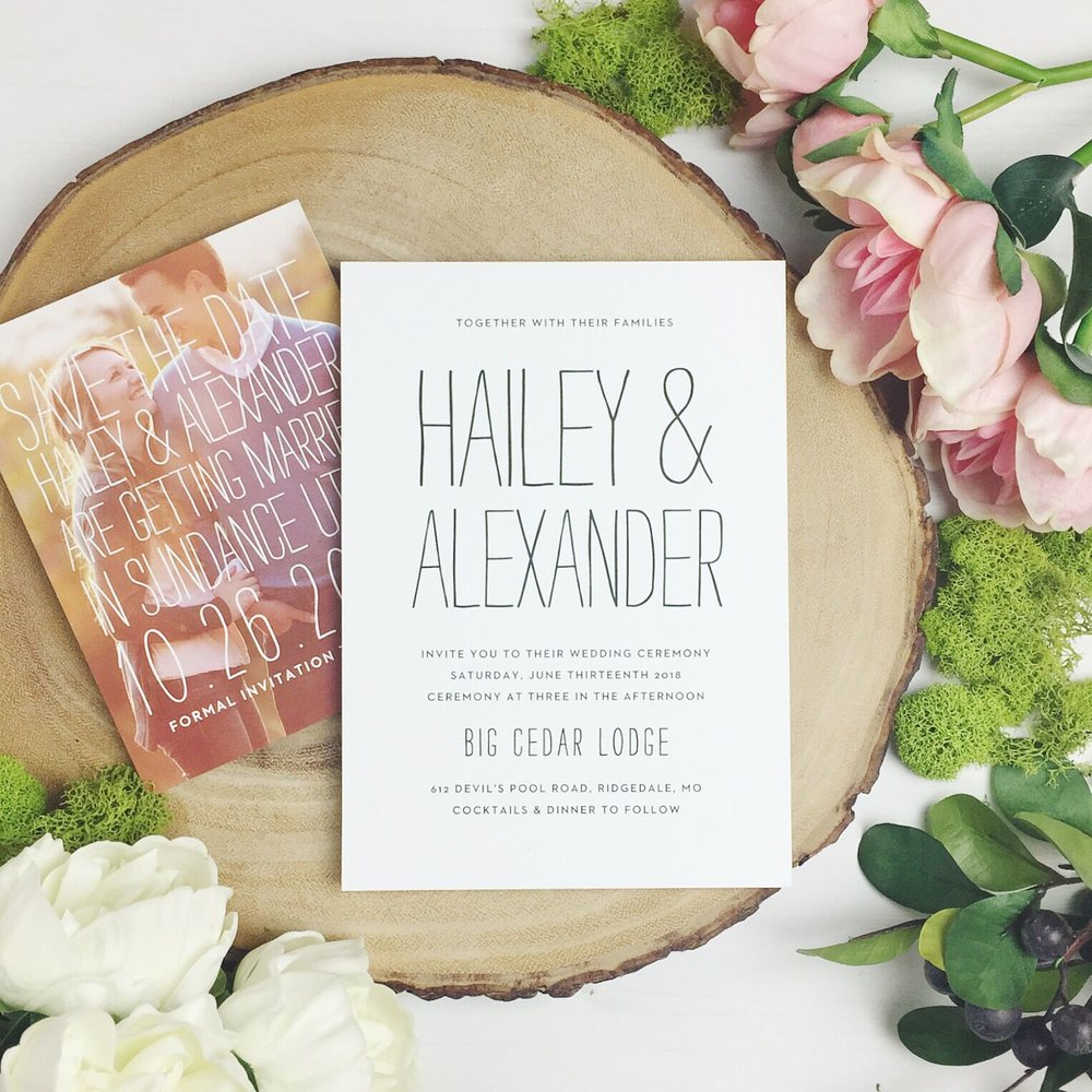 Custom Wedding Invitations by Basic Invite - Raleigh North Carolina Photographer