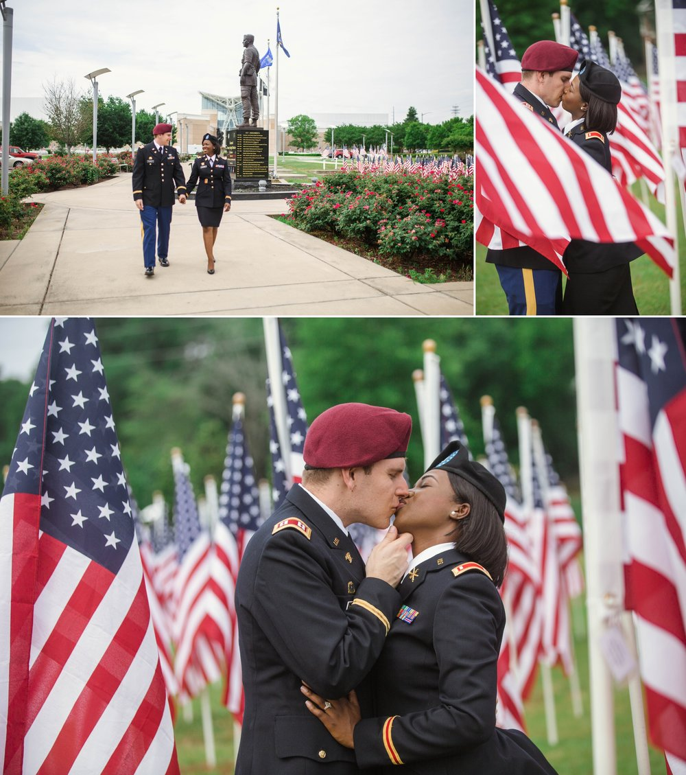 Adrianne + Adam - Engagement Photography Session at the Field of Honor in Fayetteville, North Carolina