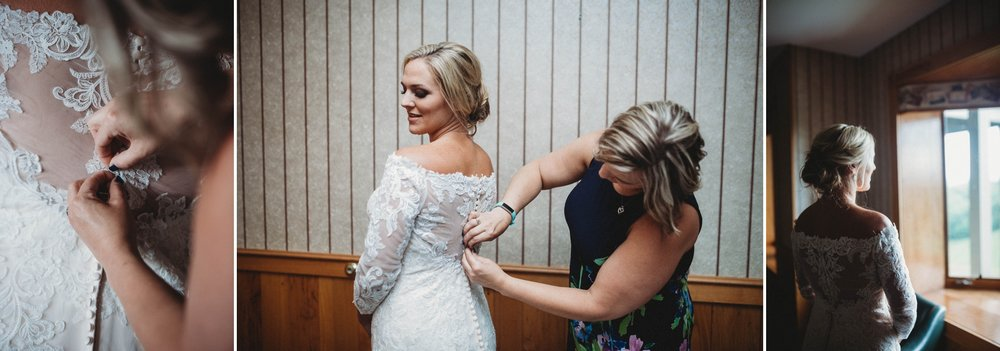 Bride getting ready, Beech Mountain Club Wedding - Asheville North Carolina Photographer