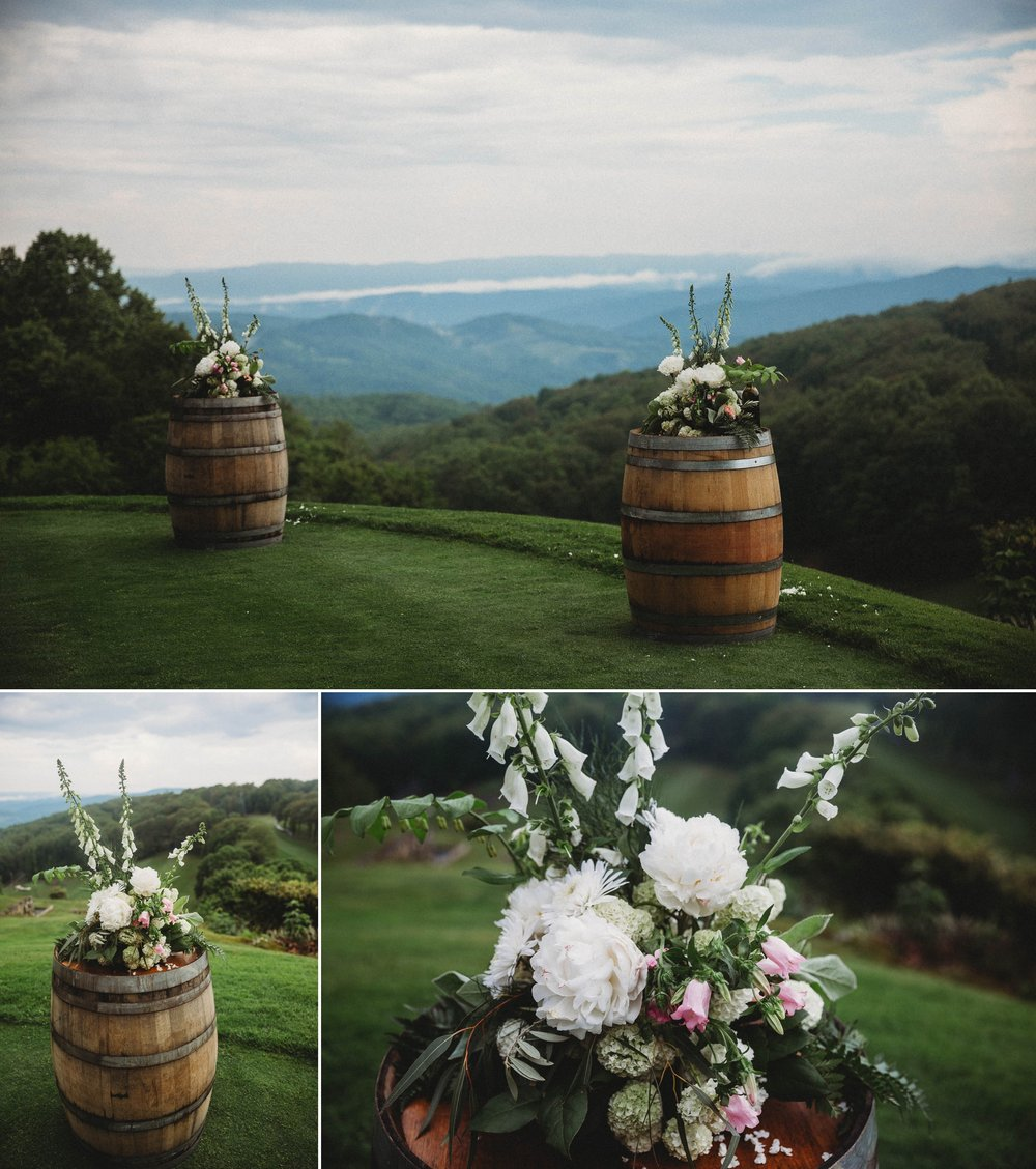 Ceremony overlooking the mountains at Beech Mountain Club Wedding - Asheville North Carolina Photographer