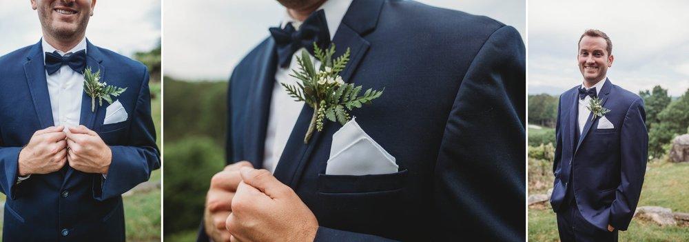 Grooms Portraits - Beech Mountain Club Wedding - Asheville North Carolina Photographer