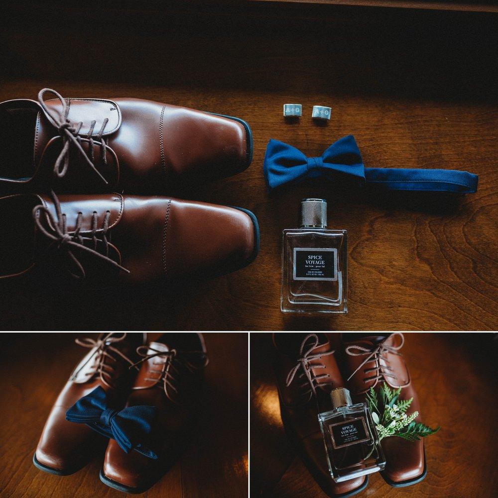 Grooms Details - Beech Mountain Club Wedding - Asheville North Carolina Photographer