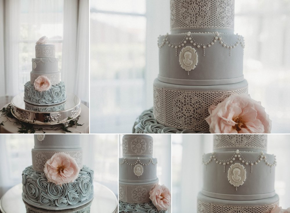 Baroque Inspired Wedding Cake, Raleigh North Carolina Wedding Photographer
