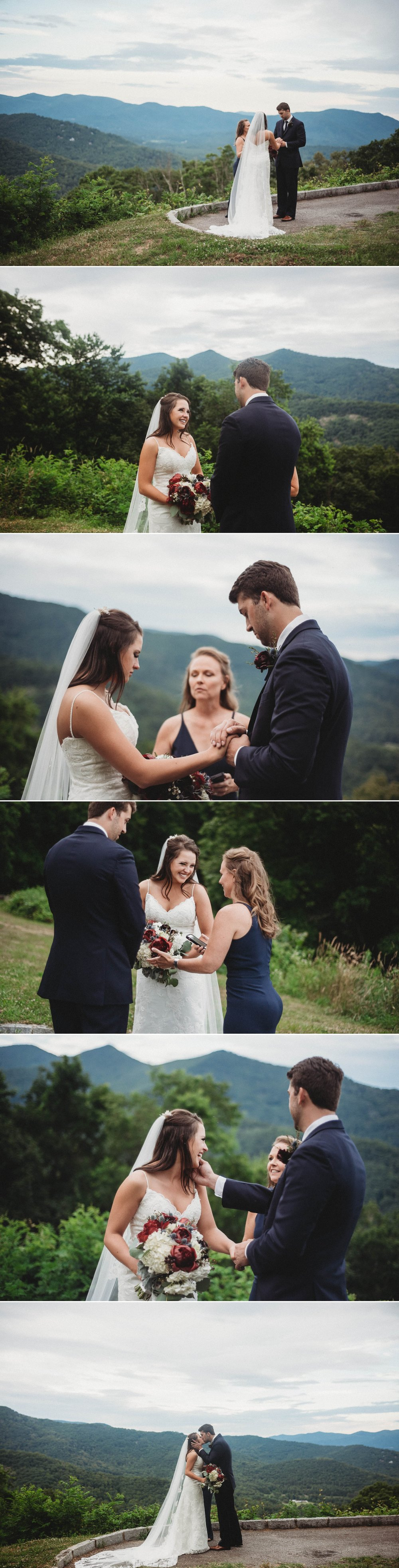 Elopement Wedding Ceremony at Tanbark Ridge Overlook Megan + Jon - Run away Elopement at the Blue Ridge Park Way in Asheville, North Carolina