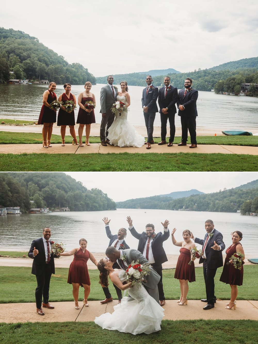 Wedding Party Formals - Rachel + Jamison - Rumbling Bald Resort, Lake Lure, NC - Asheville, North Carolina Wedding Photographer