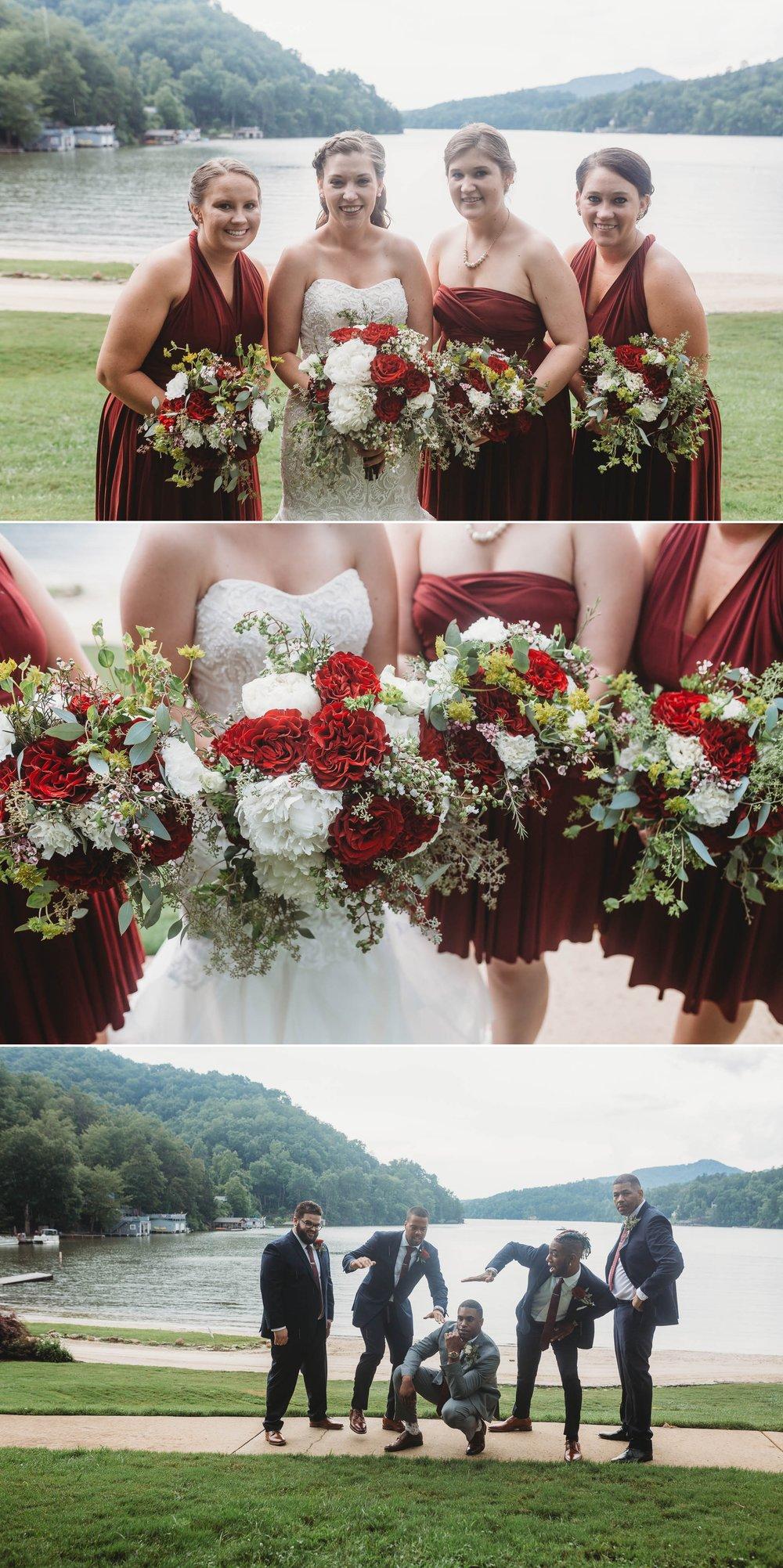Bridesmaids and Groomsmen Formals - Rachel + Jamison - Rumbling Bald Resort, Lake Lure, NC - Asheville, North Carolina Wedding Photographer