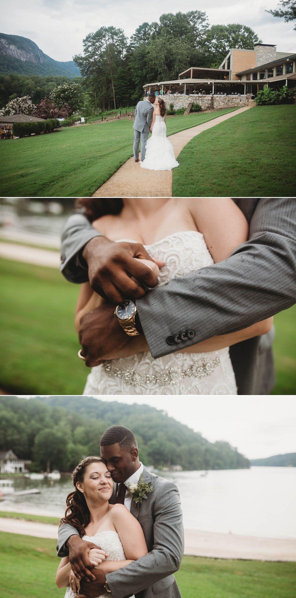 Bride and Groom Portraits Rachel + Jamison - Rumbling Bald Resort, Lake Lure, NC - Asheville, North Carolina Wedding Photographer