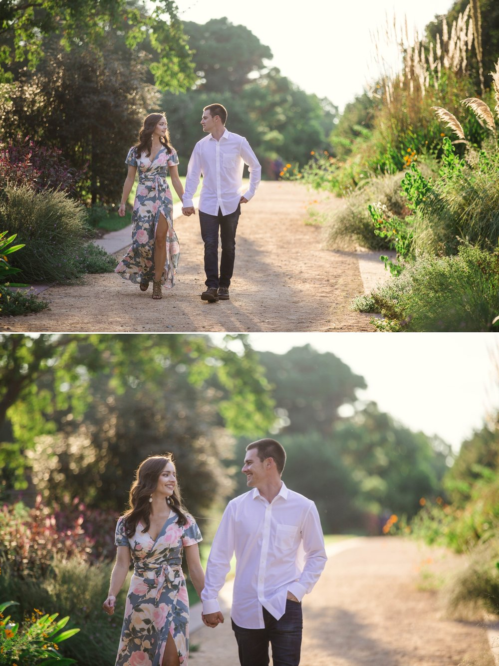 Paige + Tyler - Engagement Photography Session at the JC Raulston Arboretum - Raleigh Wedding Photographer 2.jpg