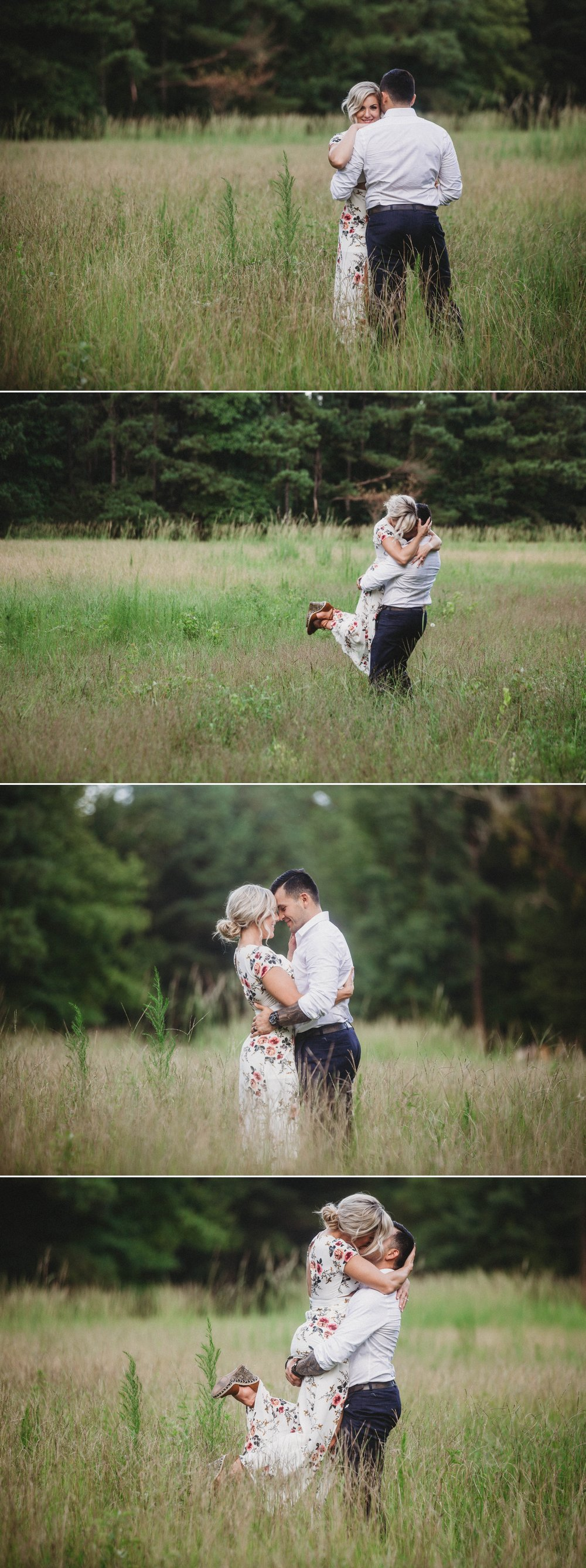 Cassie + Jesse - Engagement Photography Session in a field - Fayetteville North Carolina Wedding Photographer 5.jpg