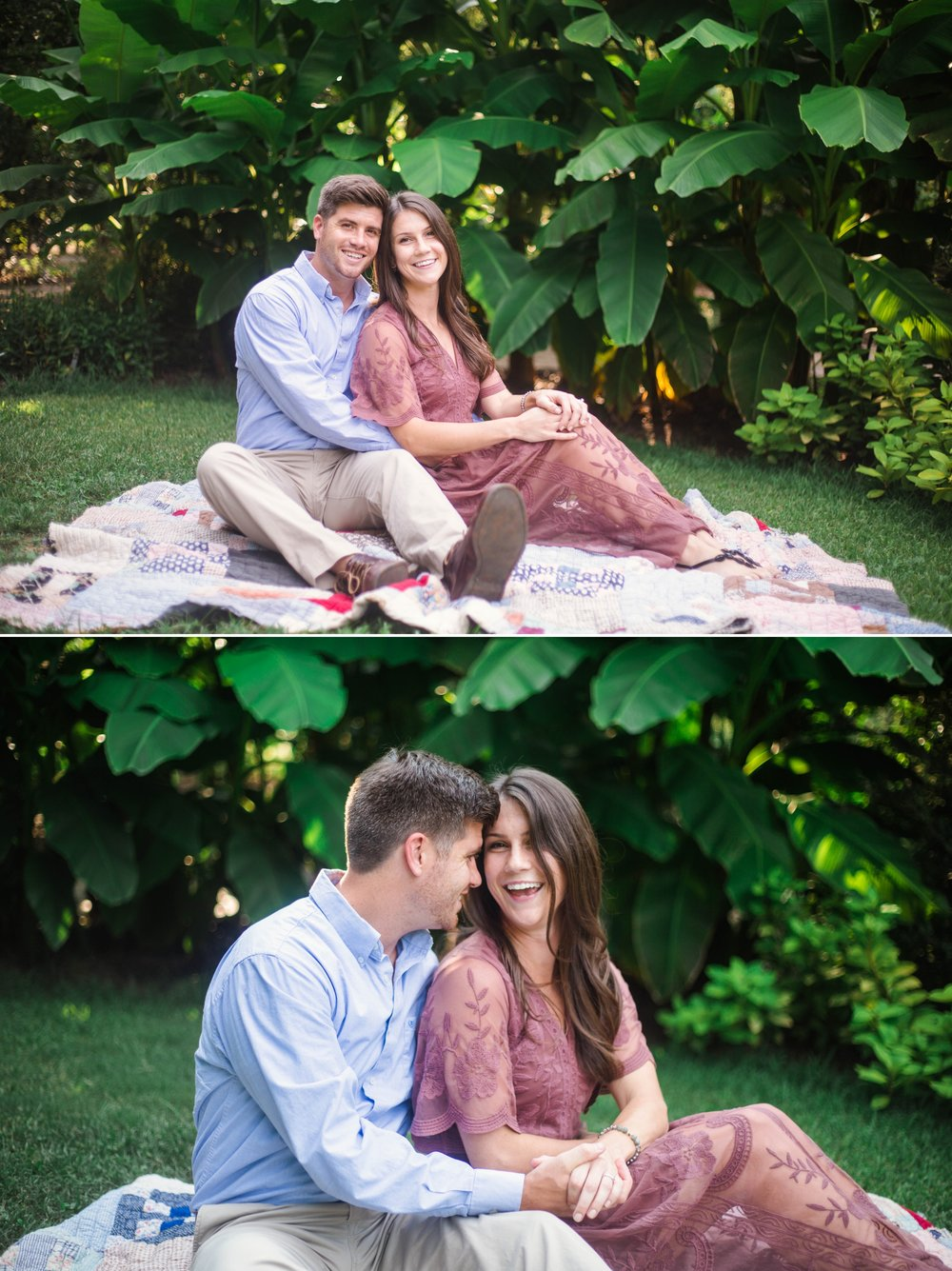 Tropical Engagement Aryn + Tyler -  Photography Session at the JC Raulston Arboretum - Raleigh Wedding Photographer
