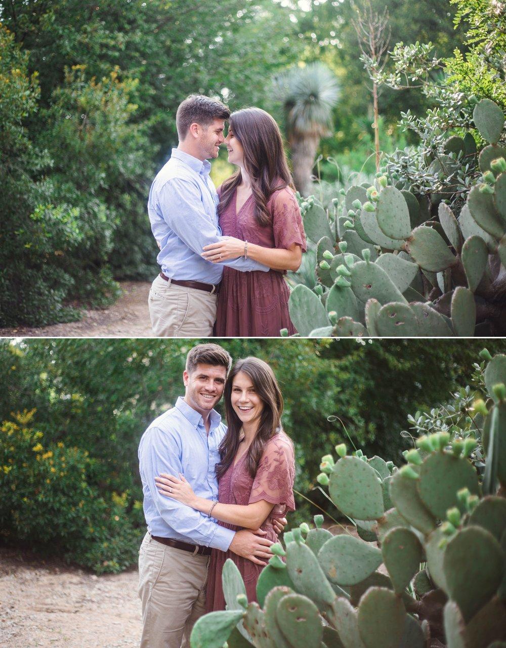 Desert inspiritation - Aryn + Tyler - Engagement Photography Session at the JC Raulston Arboretum - Raleigh Wedding Photographer