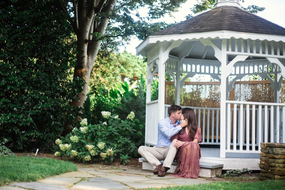 Simply Southern Engagement - Aryn + Tyler -  Photography Session at the JC Raulston Arboretum - Raleigh Wedding Photographer