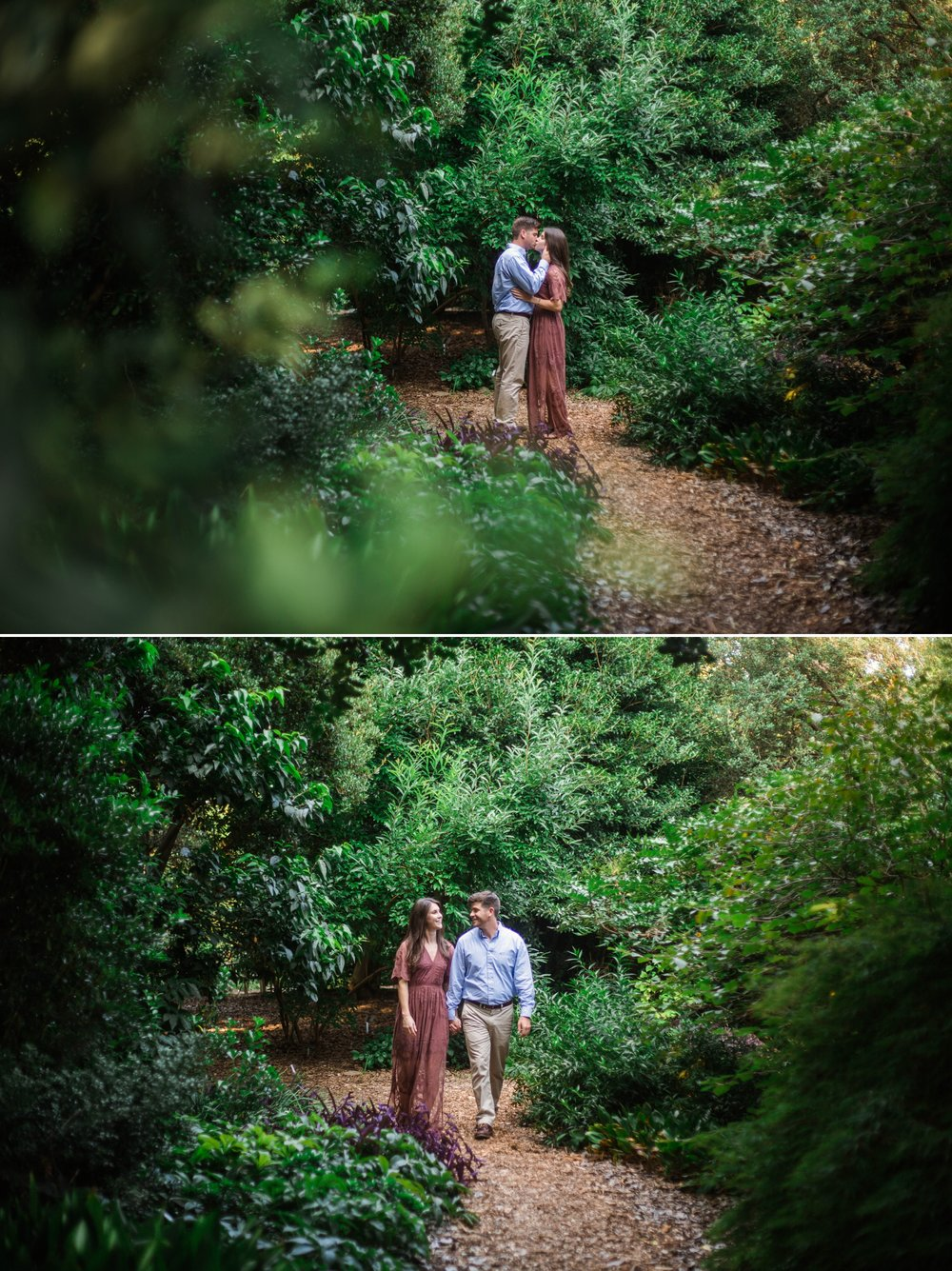 Enchanted Forest Engagement - Aryn + Tyler -  Photography Session at the JC Raulston Arboretum - Raleigh Wedding Photographer