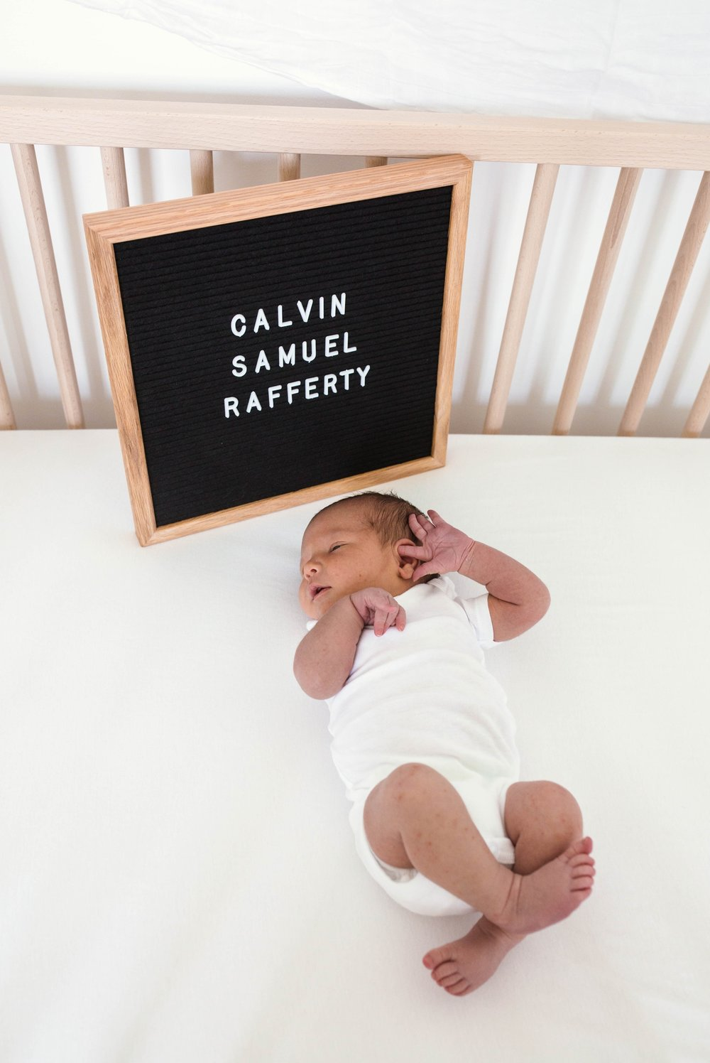 Baby Calvin - In Home Lifestyle Newborn Photography in Fayetteville, NC