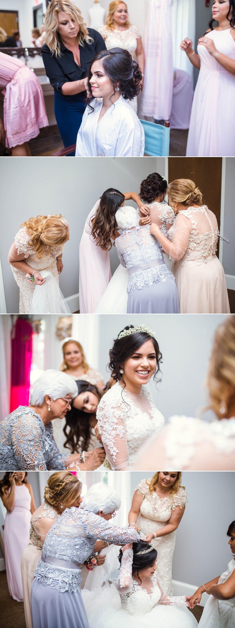 Bride getting ready - Yansi + Eddie - Wedding at Cape Fear Botanical Garden - Fayetteville North Carolina Photographer