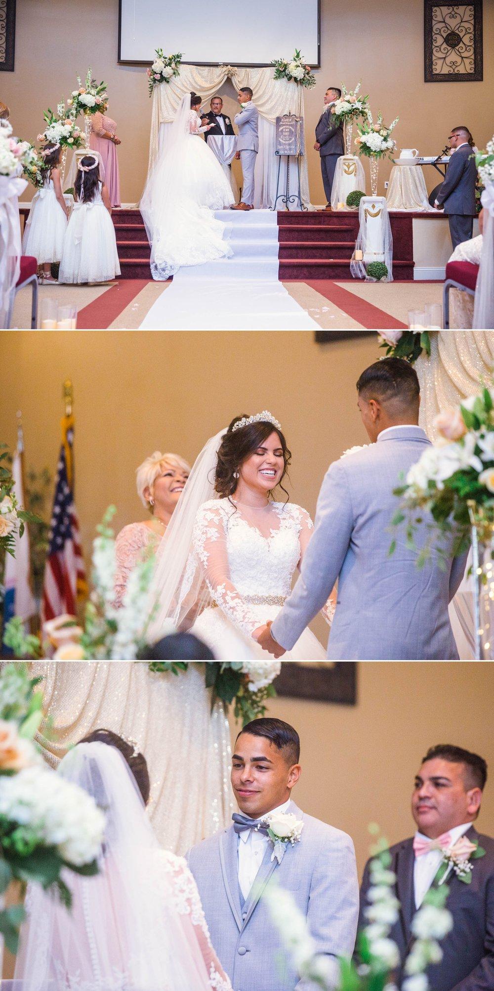 Ceremony Ceremony - Yansi + Eddie - Wedding at Capilla Cristo Redentor - Fayetteville North Carolina Photographer