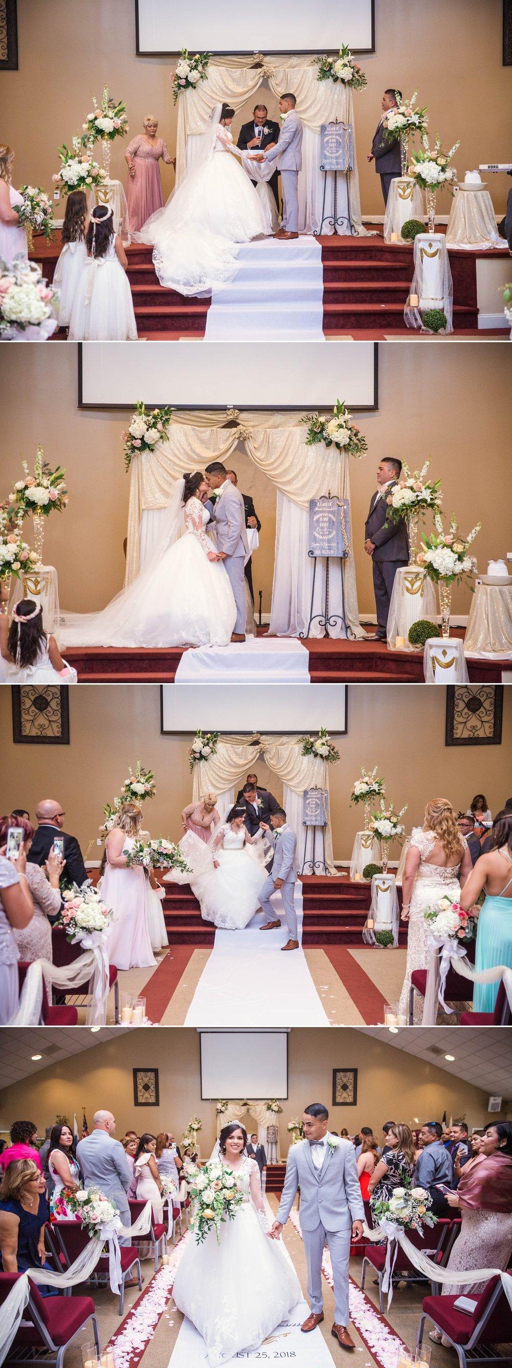 Ceremony - Yansi + Eddie - Wedding at Capilla Cristo Redentor - Fayetteville North Carolina Photographer