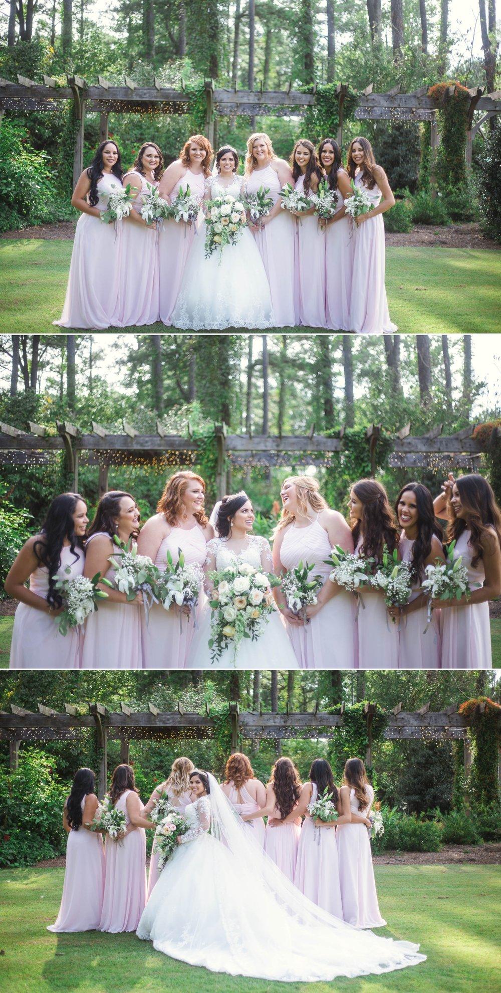 Bridesmaids Portraits - Yansi + Eddie - Wedding at Cape Fear Botanical Garden - Fayetteville North Carolina Photographer