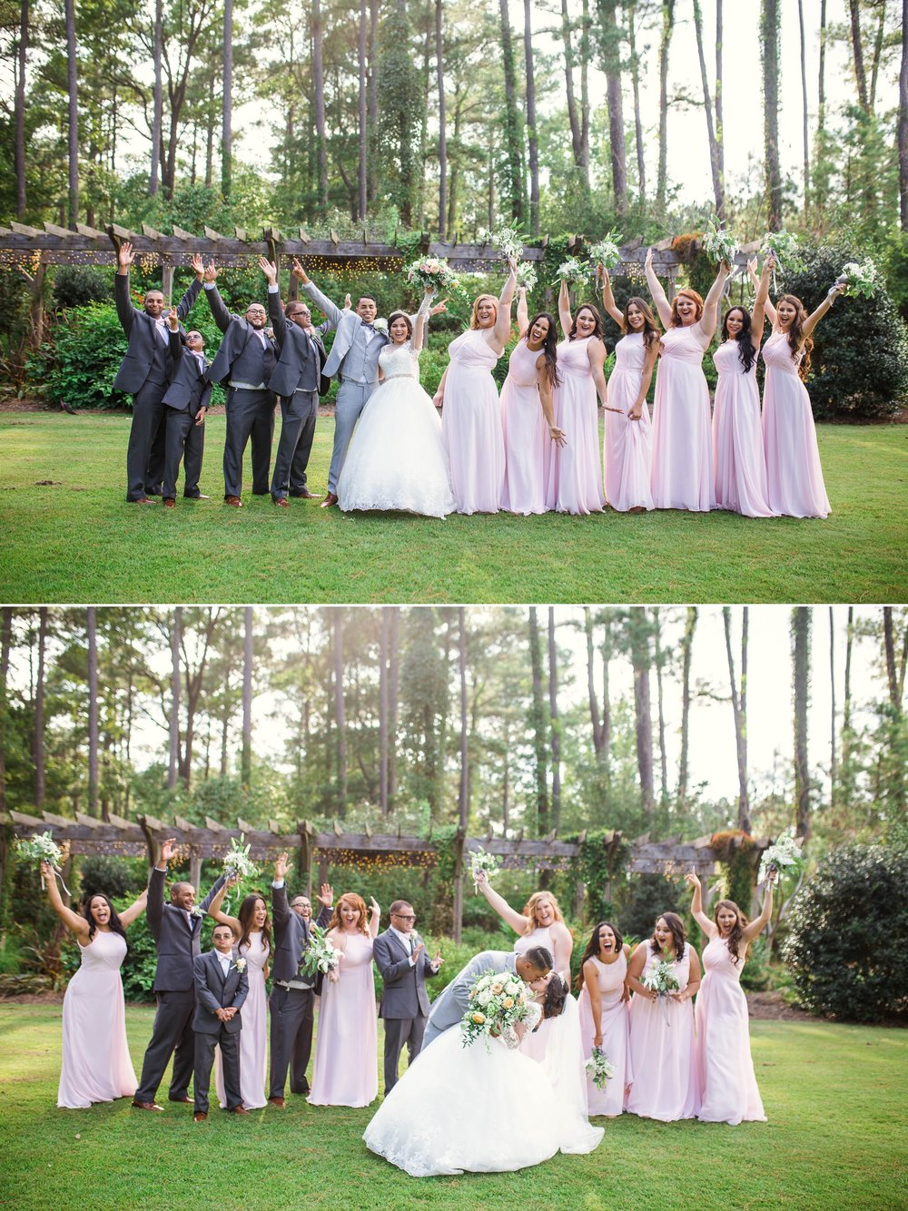 Wedding Party Portraits - Yansi + Eddie - Wedding at Cape Fear Botanical Garden - Fayetteville North Carolina Photographer