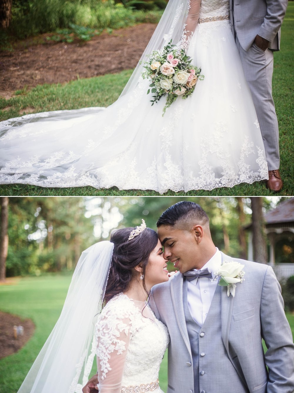 Portraits of Bride and Groom - Yansi + Eddie - Wedding at Cape Fear Botanical Garden - Fayetteville North Carolina Photographer