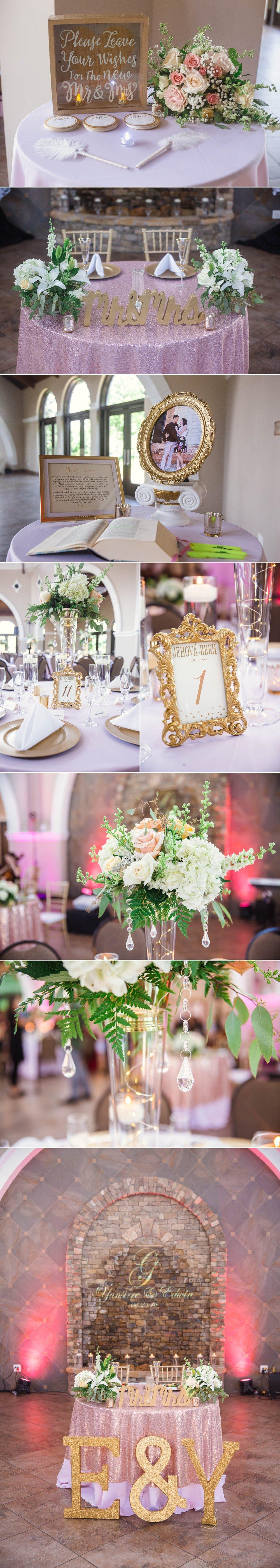 Wedding Decorations -Yansi + Eddie - Wedding at Cape Fear Botanical Garden - Fayetteville North Carolina Photographer