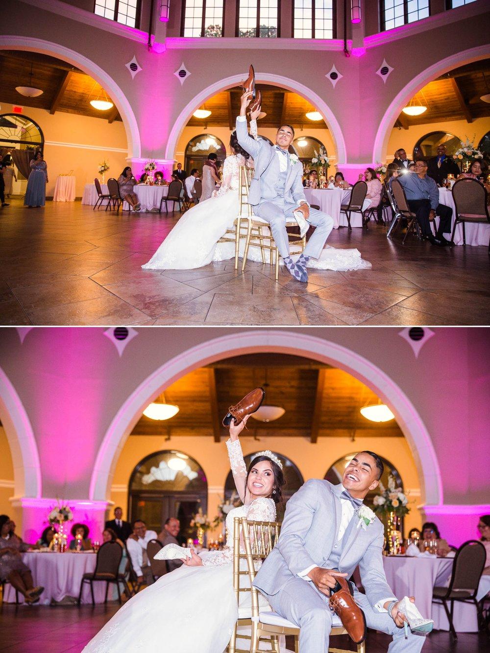 The Shoe Game - Yansi + Eddie - Wedding at Cape Fear Botanical Garden - Fayetteville North Carolina Photographer