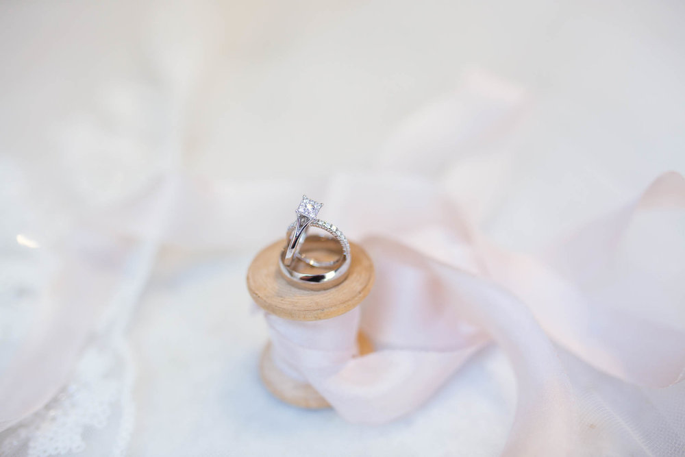 Wedding Rings -  Yansi + Eddie -  Cape Fear Botanical Garden - Fayetteville North Carolina Photographer