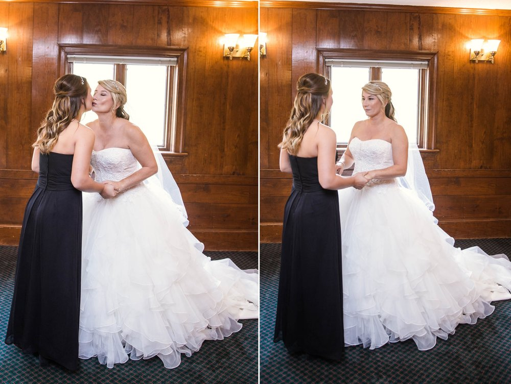 Bride with her daughter before the wedding - Dona + Doug - MacGregor Downs Country Club in Cary, NC - Raleigh Wedding Photographer