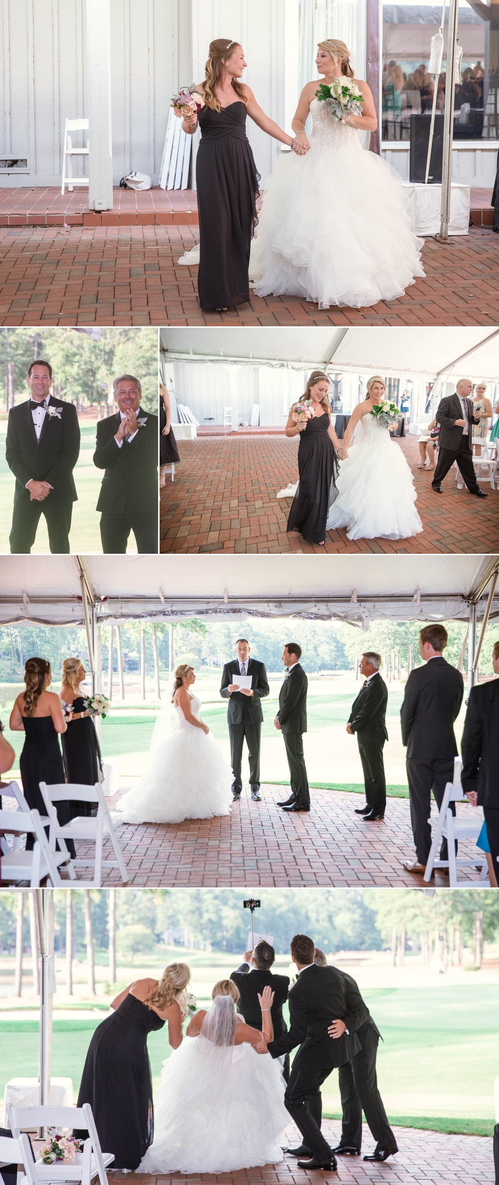 Ceremony - Dona + Doug - MacGregor Downs Country Club in Cary, NC - Raleigh Wedding Photographer
