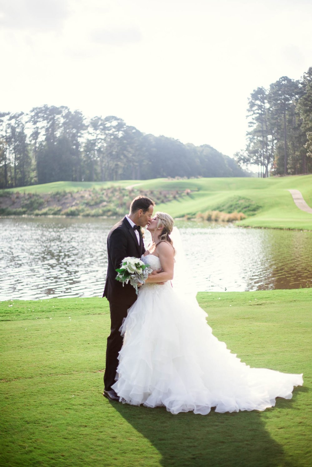 Bride and Groom Portraits - Dona + Doug - MacGregor Downs Country Club in Cary, NC - Raleigh Wedding Photographer