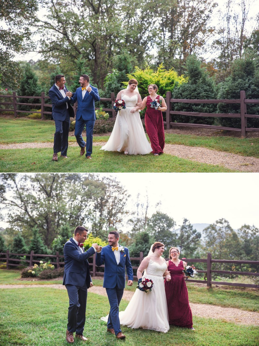 Portraits of the Wedding Party - Meredith + Jason - The Crest Center and Pavilion in Asheville, NC - Raleigh Wedding Photographer