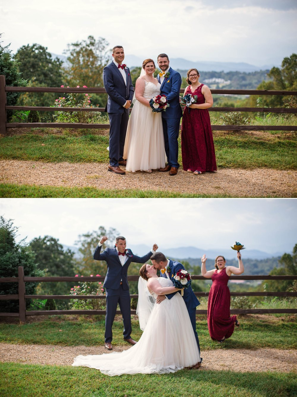 Portrait of the Wedding Party - Meredith + Jason - The Crest Center and Pavilion in Asheville, NC - Raleigh Wedding Photographer
