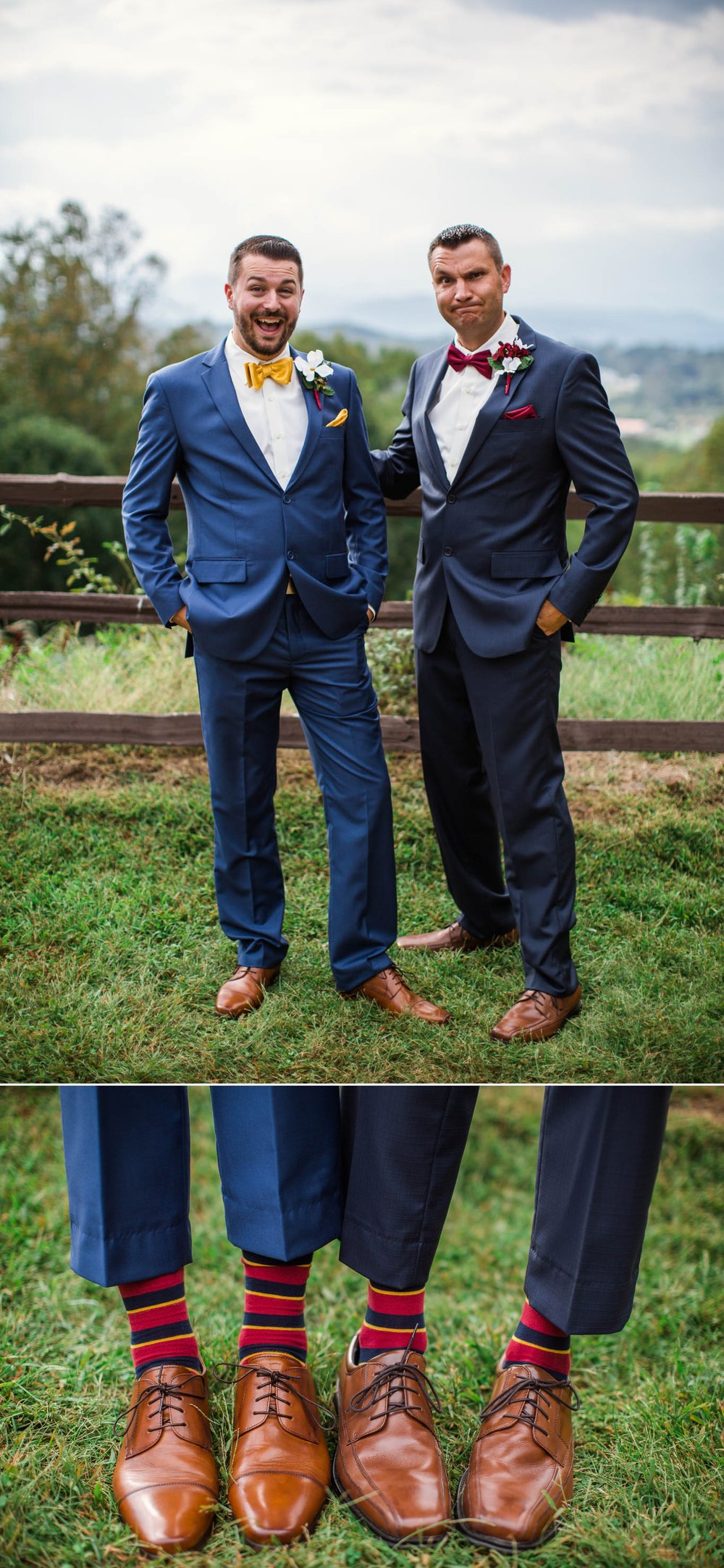 Portrait of the Groomsmen - Meredith + Jason - The Crest Center and Pavilion in Asheville, NC - Raleigh Wedding Photographer