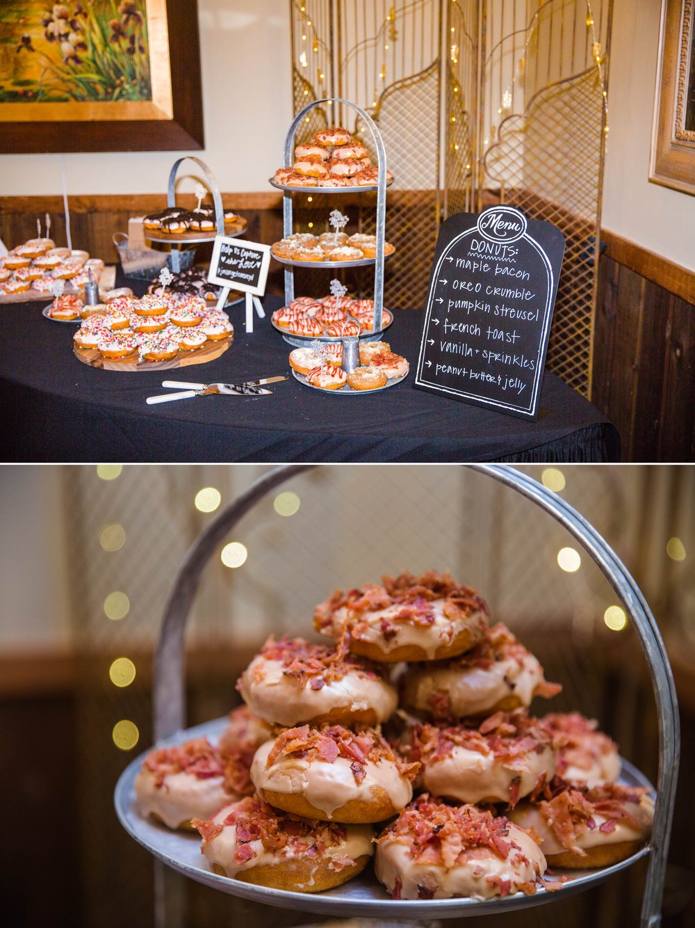 Donut Bar - Meredith + Jason - The Crest Center and Pavilion in Asheville, NC - Raleigh Wedding Photographer