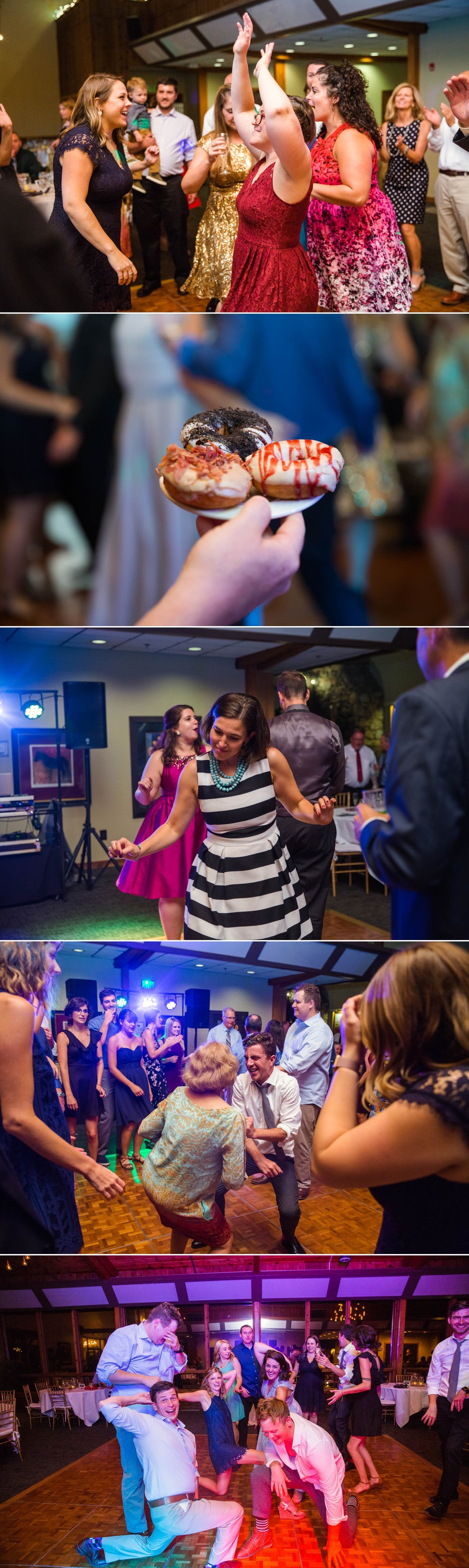 Reception and people dancing - Meredith + Jason - The Crest Center and Pavilion in Asheville, NC - Raleigh Wedding Photographer