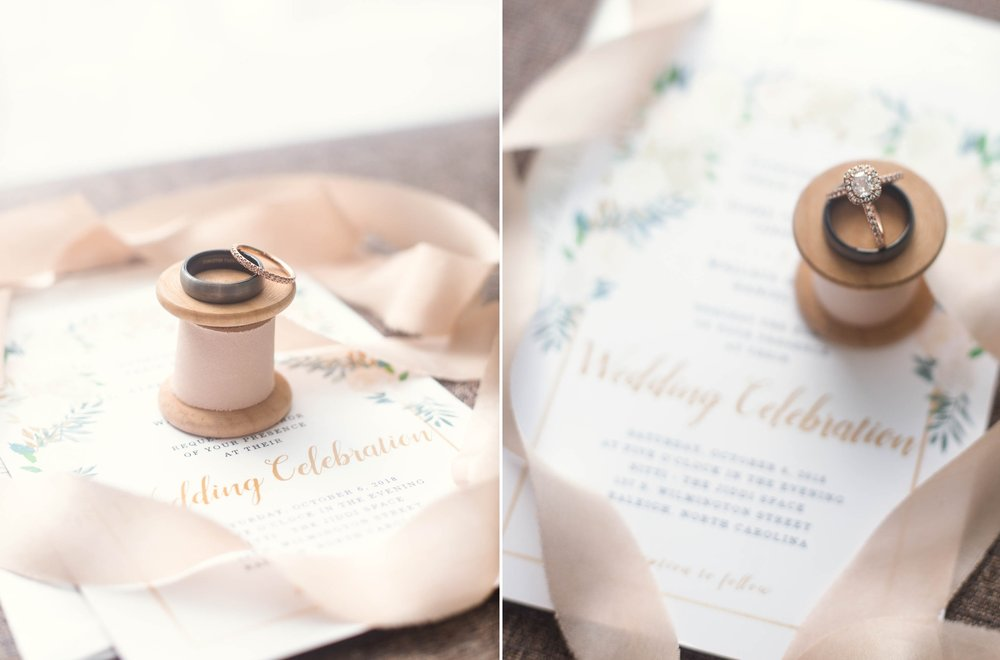 Wedding Rings - Clare + Wallace - The Jiddy Space - Raleigh North Carolina Wedding Photographer
