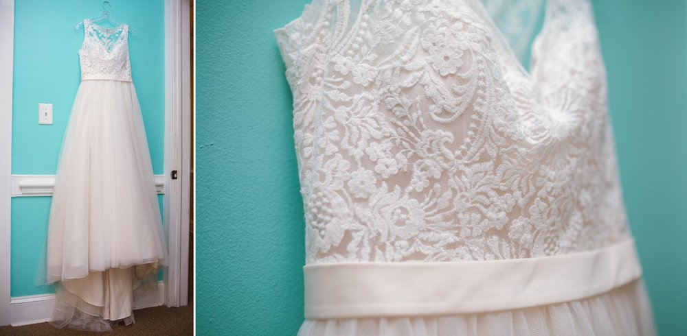 Wedding Dress at Silverceiling Beauty consulting - Clare + Wallace - The Jiddy Space - Raleigh North Carolina Wedding Photographer