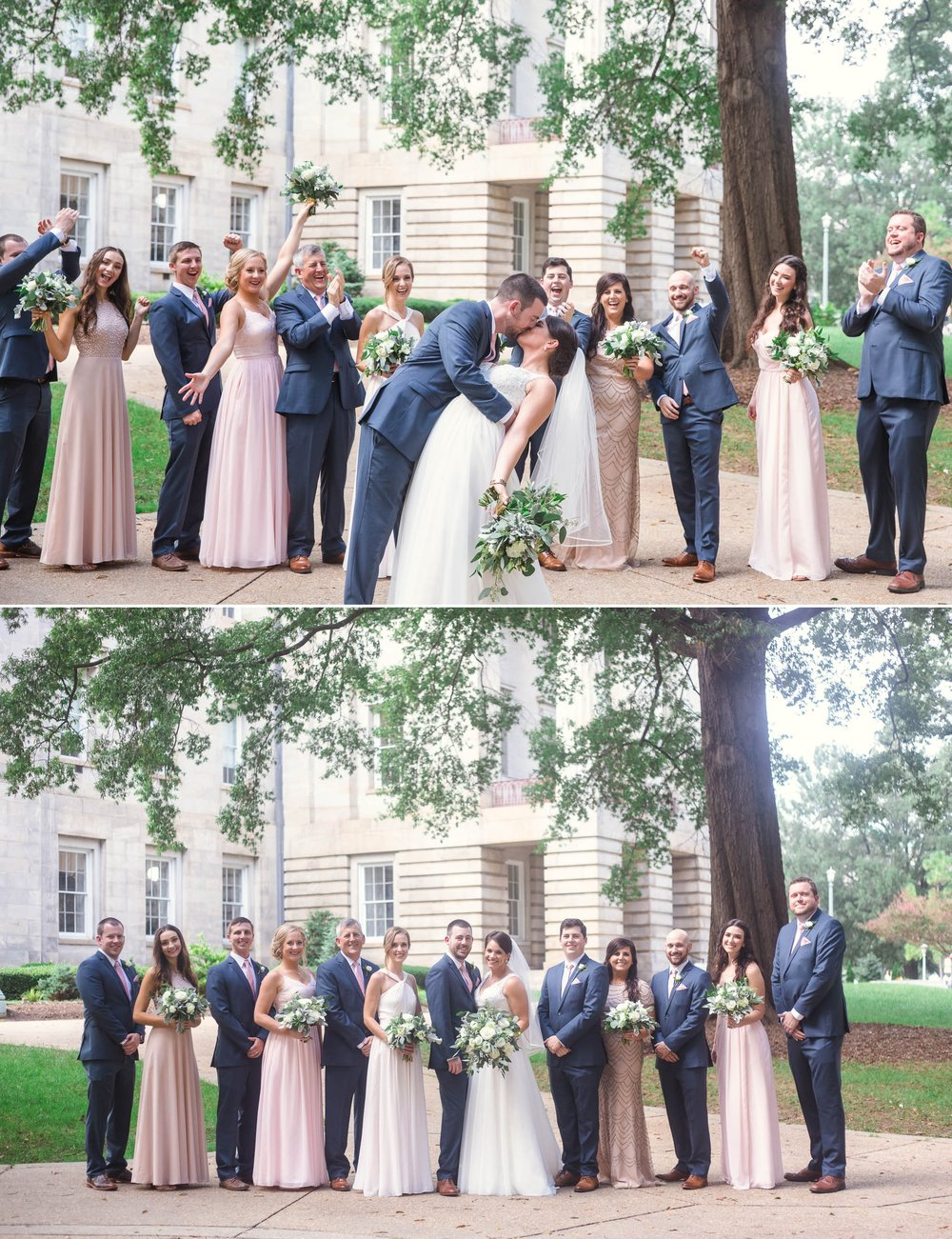 Wedding Party at Moore Square Downtown - Clare + Wallace - The Jiddy Space - Raleigh North Carolina Wedding Photographer