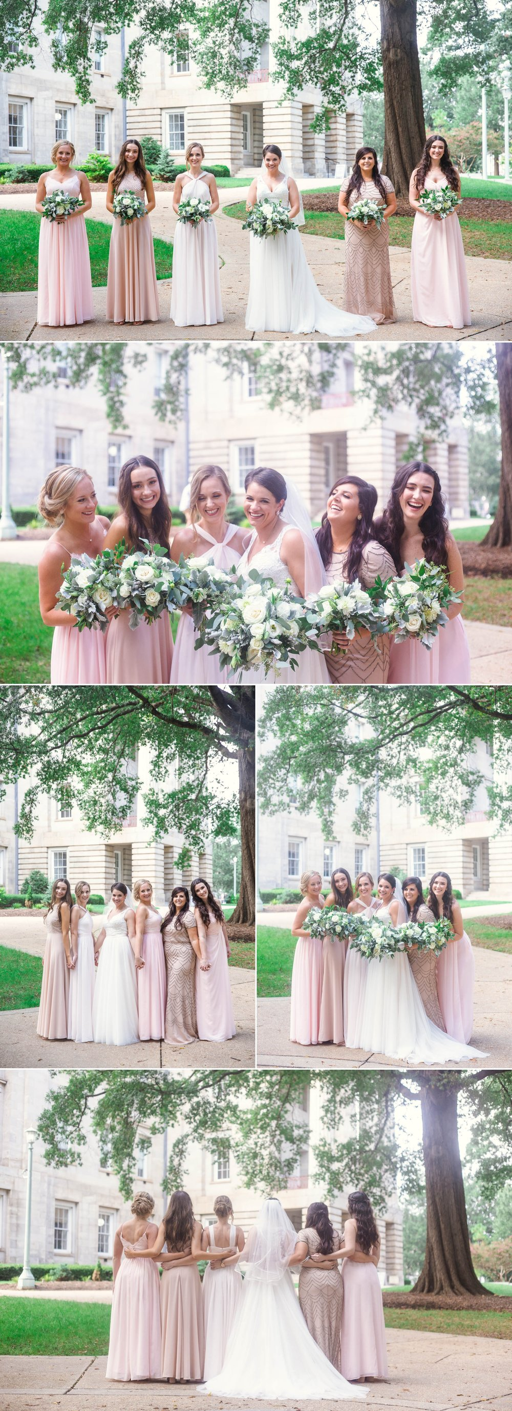 Bridesmaids portraits at moore square downtown - Clare + Wallace - The Jiddy Space - Raleigh North Carolina Wedding Photographer