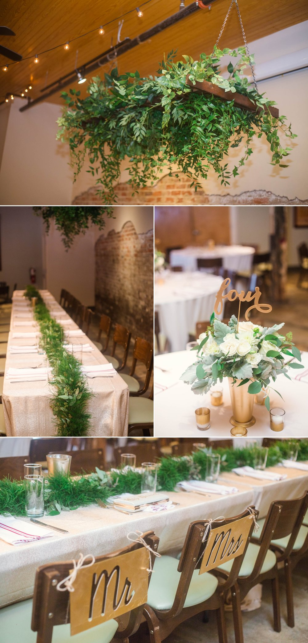 Reception Decoration by Teacup Floral - Clare + Wallace - The Jiddy Space - Raleigh North Carolina Wedding Photographer